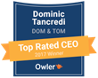 Dominic Tancredi of Dom & Tom Is Recognized as a 2017 Owler Top Rated CEO in New York
