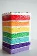 Rainbow Cake slice from Three Brothers Bakery