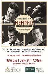 """One Night in Memphis"" will be at Husson University's Gracie Theatre."