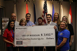 Propper donates to USO of MO