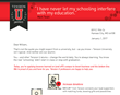 Tension's Gift Lift gift matching program direct mail piece