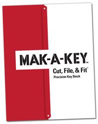 Image of G.L. Huyett's new MAK-A-KEY™ Cut, File, & Fit™ Precision Key Stock catalog