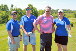(Pictured l to r) Team Andrews: Eric Stegner, Todd Fox, George Ksenics, and Oma George.