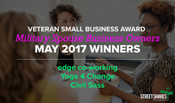 The StreetShares Foundation's Veteran Small Business Award program rewards veteran and military spouse business owners with cash awards in addition to providing business educational tools and inspirational stories.