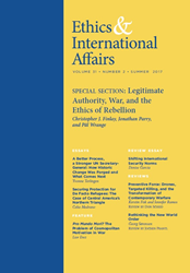 Ethics & International Affairs Journal, Summer 2017 Issue
