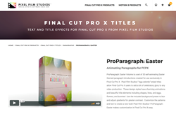 ProParagraph Easter - Pixel Film Studios - Final Cut Pro X Effects