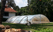 retractable swimming pool enclosures  model C