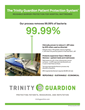 The Trinity Guardion Protective Patient Barrier is clinically proven to reduce C.diff rates when used as directed.