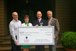 Purple Heart Wines presents $10,000 donation to the Purple Heart Foundation