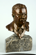 Bronze and Stone Bust of Theodore Roosevelt, estimated at $800-1,5000.