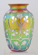 Quezal Silver Overlay Vase, estimated at $2,500-3,500.