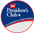 Metalcrafts, a Tecta America Co., Receives GAF's Prestigious 2017 President's Club Award