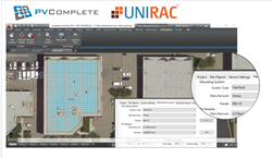 PV Complete's PVCAD tool now includes Unirac's industry-leading ROOFMOUNT product line for streamlined quoting and solar designs done right in AutoCAD