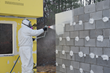 DuPont™ Tyvek® Fluid Applied WB+™ System-Spraying-Cinder Block