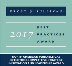 Industrial Scientific receives the Frost & Sullivan gas detection award