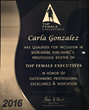 Carla Gonzalez Top Female Executives Award