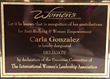 Carla Gonzalez Anti-Bullying and Women Empowerment Award