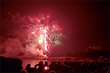 Fireworks display over Lake Balboa in Hot Springs Village. Courtesy of Photos by Renee.
