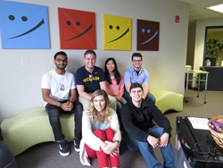 The interns joining the team from left to right (Top) Rupin Balabhadra, Kurt Karas, Andrea Lin, Navin Kathawa (Bottom) Gabriella Ramaci, Mitchell McCollum