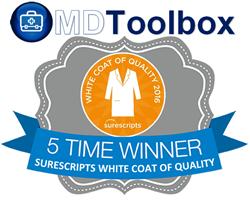 Surescripts 2016 White Coat of Quality Award