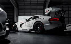 The twin Viper ACR cars prepared for their run at the RING.