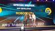 Robosoft team accepts the AWS award