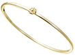 Yellow Gold Rosette Bangle by Christina Malle