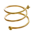Yellow Gold Coil Ring by Christina Malle