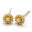 Yellow Gold Rosette Stud Earrings by Christina Malle