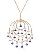 Blue Sapphire & Yellow Gold Roxanne St Tropez Necklace by Christina Malle