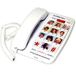 amplified phone with photo speed dial for memory loss