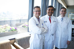 [photo of Drs. Schwaab, Singh and Muhitch]