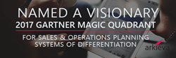 Arkieva Named as a Visionary in the Gartner Magic Quadrant for Sales and Operations Planning Systems of Differentiation