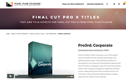 Pixel Film Studios Releases Pro3rd Corporate for FCPX
