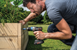 Use WORX Ai Drill to build raised bed
