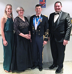 From left to right – Rachel Rust, Brussels Branch Manager; Ms. Cheryle Hess, USAG Benelux DGC; COL Kurt Connell, USAG Benelux Commander; Joshua Barrett, Chievres Branch Manager.