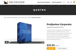 Pixel Film Studios Plugins - FCPX Effects - ProQuotes Corporate