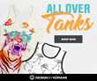 Indulge in All Over Excitement for the Design By Humans' All Over Tank Collection