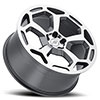 Redbourne Wheels- the Bashford in Gunmetal w/ Mirror Cut Face
