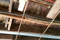 dc remodel view of improperly sistered joists