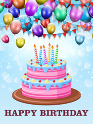 Let's Celebrate with Delicious Cake - Happy Birthday Card