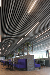 HeartFelt™ linear ceilings by Hunter Douglas