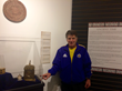 Peter Payack, inventor of The Stonehenge Watch™, at the National Watch and Clock Museum with the watch in the feature exhibit