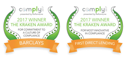 Barclays and First Direct Lending: COMPLY2017 Kraken Awards Winners