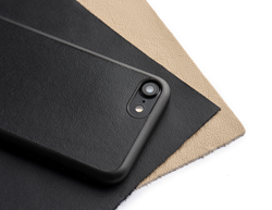 top view of a super thin iphone 7Plus leather case in black