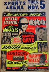 Original 1963-69 Stevie Wonder and Marvin Gaye Motortown Revue Concert Posters