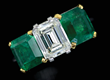 Lot 120, A Cartier Emerald & Diamond Ring, Realized $20,570.