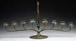 Lot 1252, A Tiffany Studios Jeweled Candelabra, Realized $12,100.