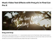 ProLyric - FCPX - Apple - Pixel Film
