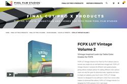 Pixel Film Studios Plugins - FCPX Effects - FCPX LUT Vintage Volume 2